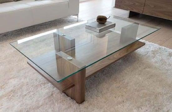imagenes de mesas de centro madera y cristal