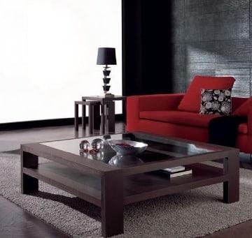 mesas de centro madera y cristal para el hogar