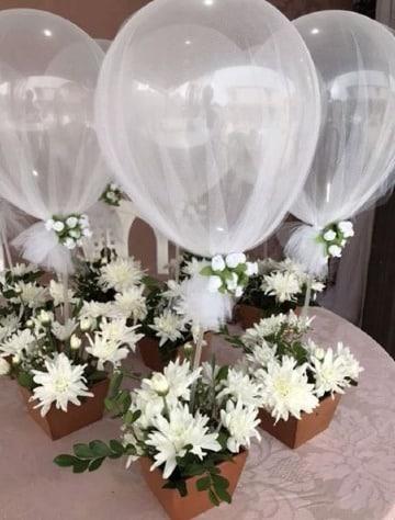modelos de arreglos con globos para boda