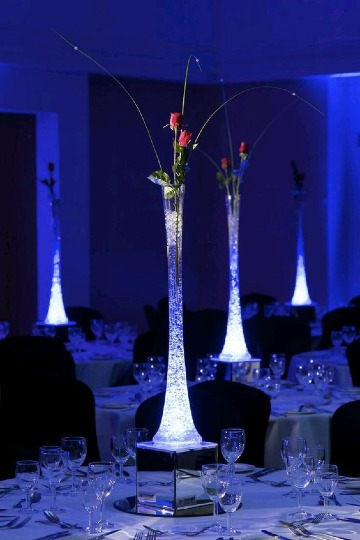 modelos de centros de mesa iluminados