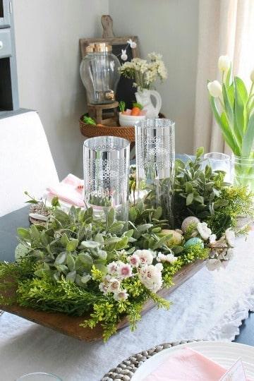modelos de centros de mesa para el hogar