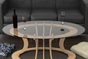 4 diseños modernos de mesas de centro madera y cristal