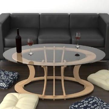 modelos de mesas de centro madera y cristal