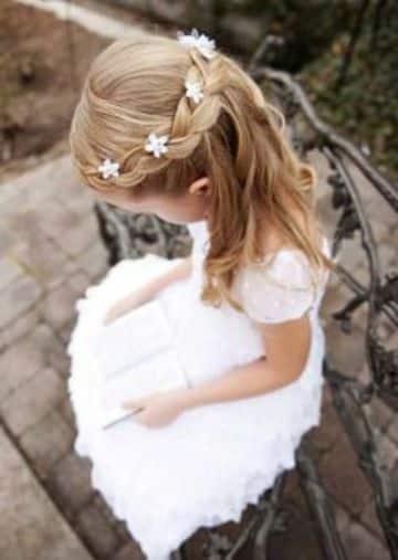 estilos de peinados para bautizo de niña