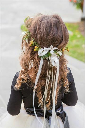 peinados con flores para niñas diadema
