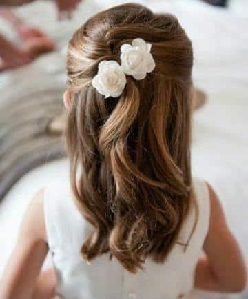 peinados con flores para niñas faciles
