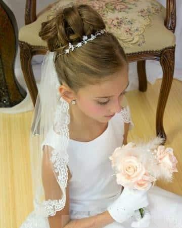 peinados de comunion para niñas recogido