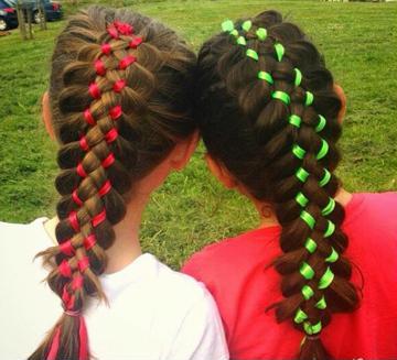 peinados de niñas con cintas cabello largo