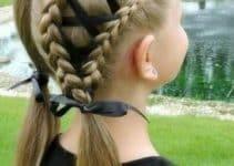 Un espiral, 3 trenzados y peinados de niñas con cintas
