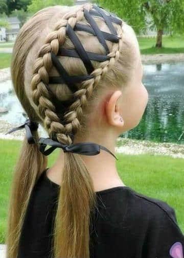 peinados de niñas con cintas facil