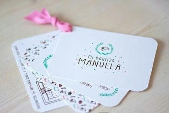 tarjetas de recuerdo de bautizo de niña
