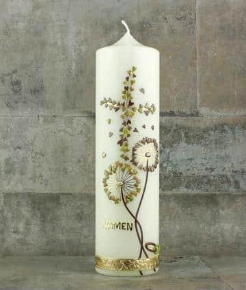 velas de bautizo decoradas elegantes