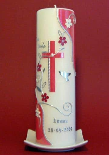 velas de bautizo decoradas para niñas