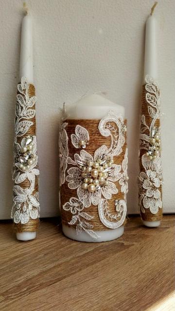 velas de bautizo decoradas rusticos