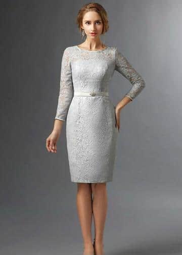 vestidos cortos para bautizo elegantes