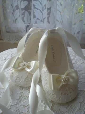 zapatos de bautizo para niña elegantes