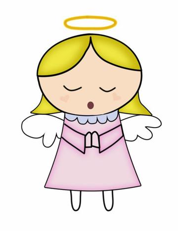 dibujos de angeles para bautizo de niña