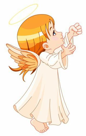 dibujos de angeles para bautizo para imprimir