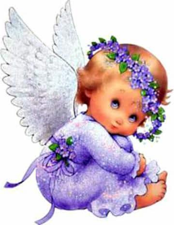 dibujos de angeles para bautizo
