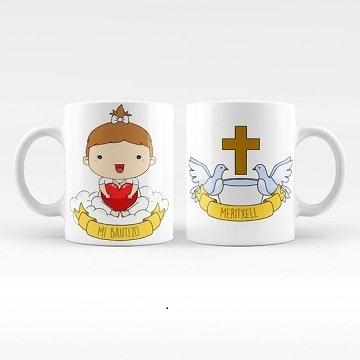 diseño de tazas de recuerdo para bautizo