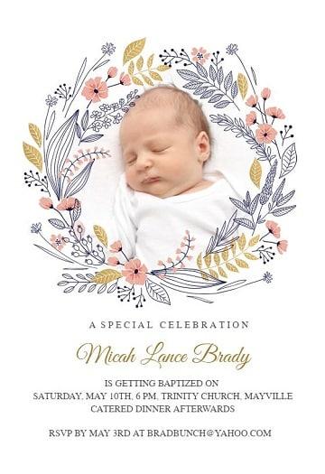diseños de invitaciones de bautizo para imprimir