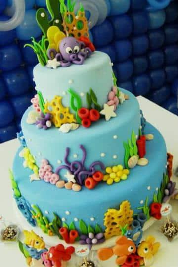 imagenes de pasteles de fondant infantiles