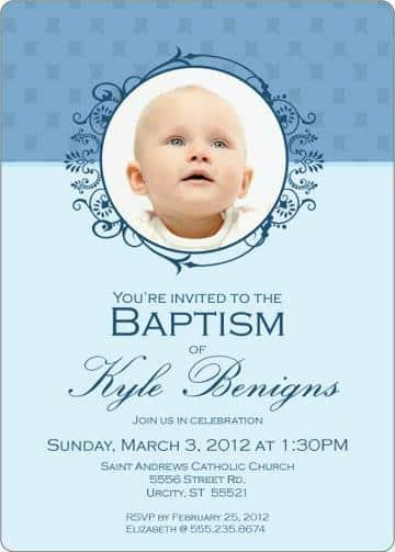invitaciones de bautizo con foto para imprimir