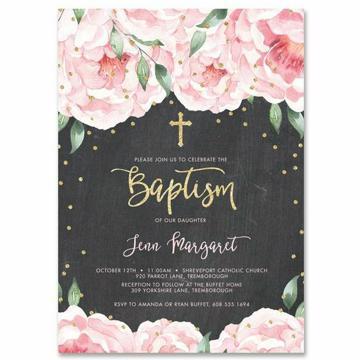 invitaciones modernas para bautizo de niña