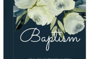 Fotos para hacer invitaciones modernas para bautizo