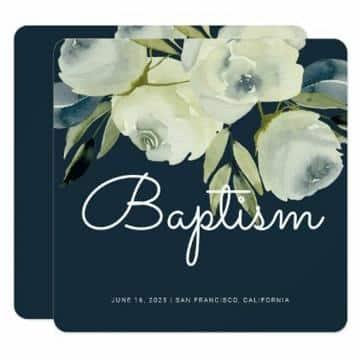 invitaciones modernas para bautizo elegantes