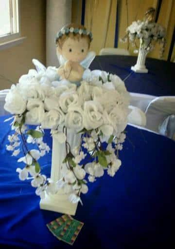 recuerdos de mesa para bautizo de angelitos