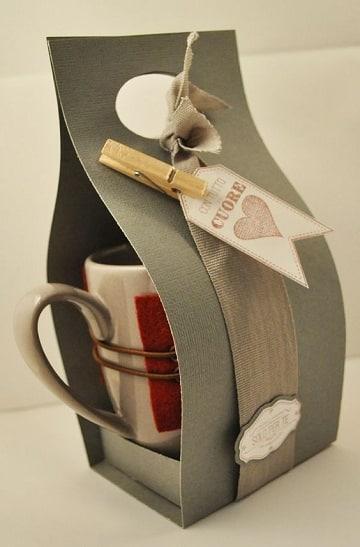 tazas decoradas para regalar envuelta