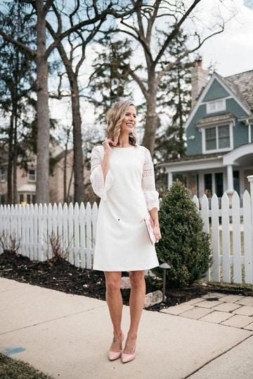 vestidos para bautizo mama blanco