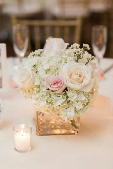 centros de mesa con flores para bodas