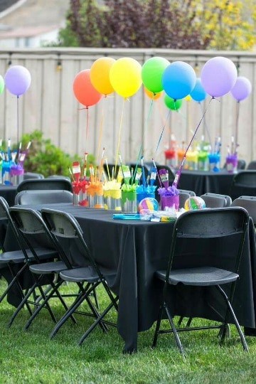 centros de mesa con globos para fiestas