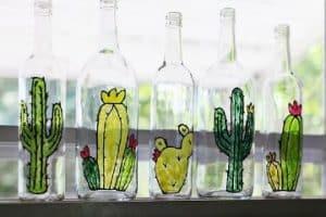 Como decorar botellas de vidrio paso a paso