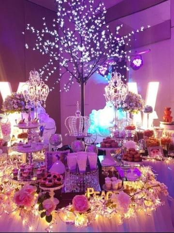 como decorar una mesa de cumpleaños de xv