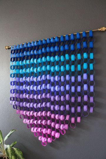 como hacer cadenas de papel colores