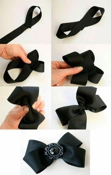 como hacer lazos con cinta para niñas