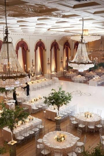 decoracion de local para matrimonio elegante