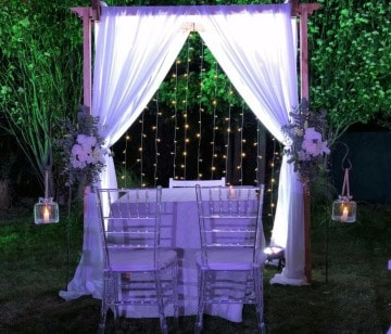 decoracion de matrimonio civil al aire libre
