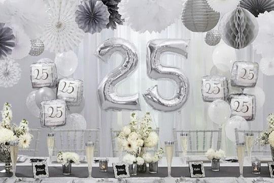 decoracion para aniversario de bodas 25