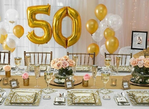 decoracion para aniversario de boda 50