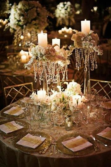 elegantes de decoracion de mesa de matrimonio