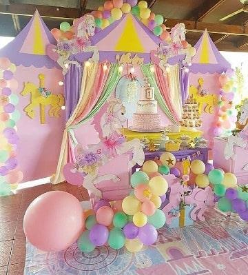 ideas de decoracion de cumpleaños de unicornio