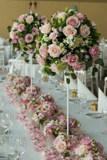 imagenes de centros de mesa con flores