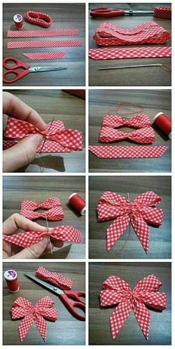imagenes de como hacer lazos con cinta