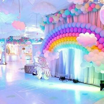 imagenes de decoracion de cumpleaños de unicornio