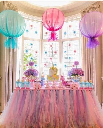 mesa decoradas para cumpleaños de niña