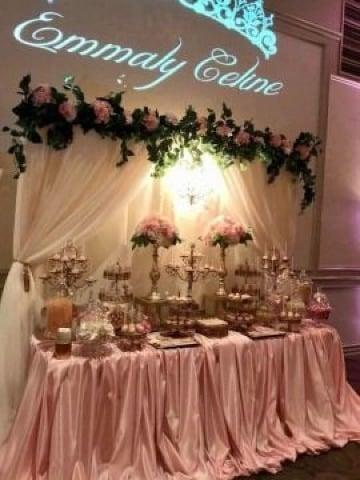 mesas decoradas para cumpleaños elegantes